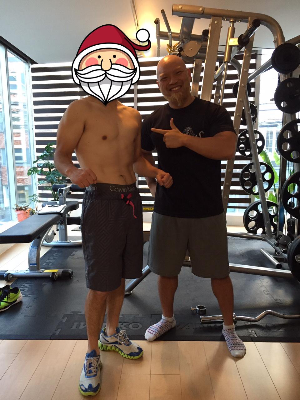 45歳男性!体重-8.7kg、体脂肪-7.2%で大手ダイエットジムに勝利!